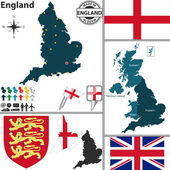Map of England — Stock Vector