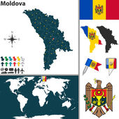 Map of Moldova — Stock Vector