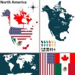 Map of North America — Stock Vector #49126199