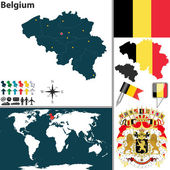 Map of Belgium — Stock Vector