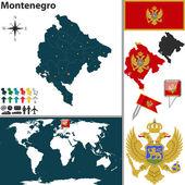 Map of Montenegro — Stock Vector