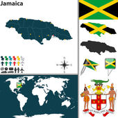 Map of Jamaica — Stock Vector