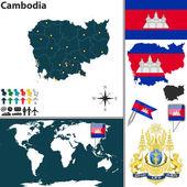 Map of Cambodia — Stock Vector
