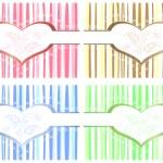4 Valentine cards — Stock Vector #8018967