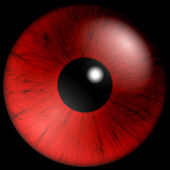 Texture red eyes — Stock Photo