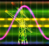 Texture wave oscilloscope — Stock Photo
