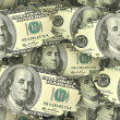 Seamless texture of dollars — Stock Photo