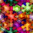 Seamless Texture multi-colored snowflakes - Stock Photo