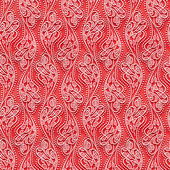 Seamless texture red wallpaper with a pattern — Stock Photo
