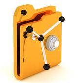 Computer icon for secure folder safe — Stockfoto