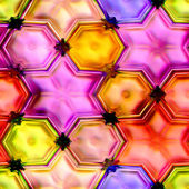 Seamless texture of colorful stars — Stock Photo