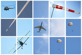 Collage Day Aviation — Stock Photo