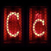 "Nixie tube indicator set of letters the whole alphabet. The letter ""C"". — Stock Photo"