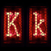 "Nixie tube indicator set of letters the whole alphabet. The letter ""K"". — Stock Photo"