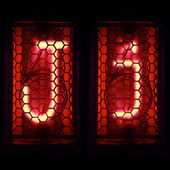 "Nixie tube indicator set of letters the whole alphabet. The letter ""J"". — Stock Photo"