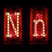 """Nixie tube indicator set of letters the whole alphabet. The letter """"N"""". — Stock Photo"""