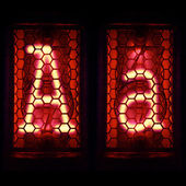 "Nixie tube indicator set of letters the whole alphabet. The letter ""A"". — Stock Photo"