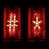 Nixie tube indicator of the numbers of retro style. lattice and the asterisk — Stock Photo