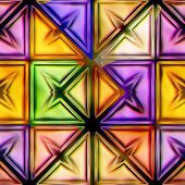 Seamless texture of abstract bright shiny colorful geometric shapes — Stock Photo