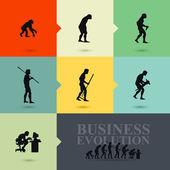 Business evolution concept — Stock Vector