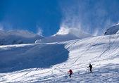 Ski resort Krasnaya Polyana, blizzard — Stock Photo