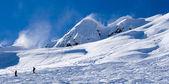 Ski resort Krasnaya Polyana. view on the slope — Stock Photo