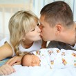 Happy parents and newborn — Stock Photo