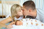 Happy parents and newborn — Stock Photo