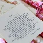 свадебные приглашения — Стоковое фото