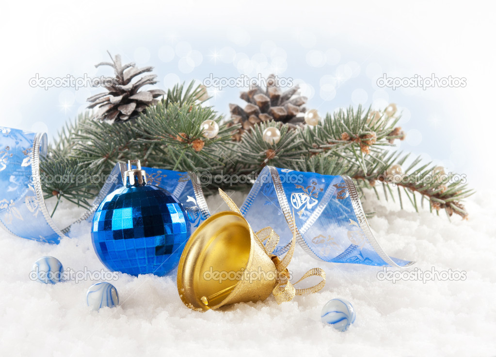 Christmas background with Christmas toys. — Stock Photo #16883645