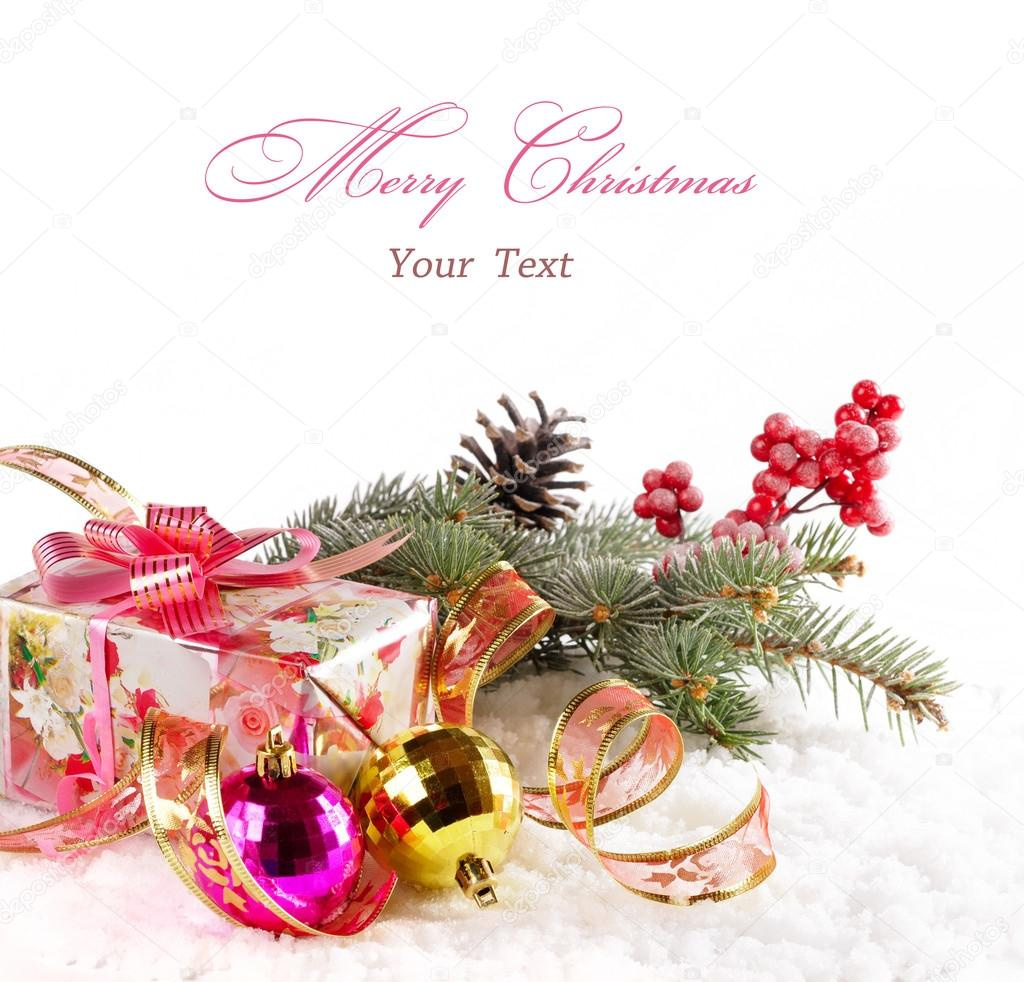 Christmas background with text. — Stock Photo #16883657