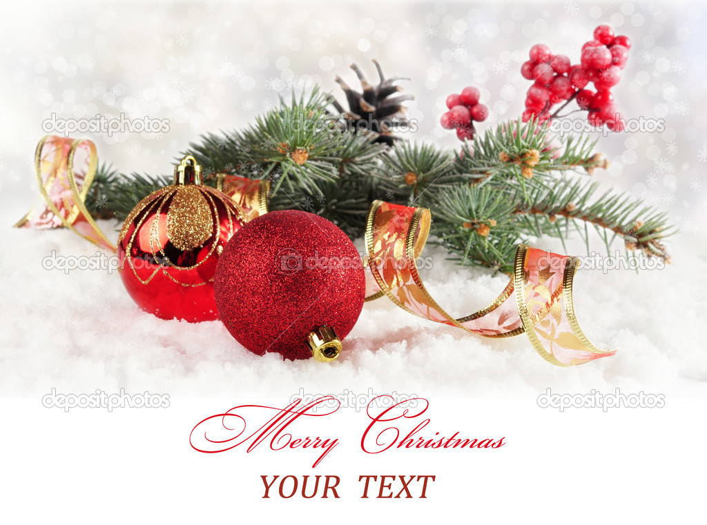 Christmas card with text.  Stock Photo #16883663