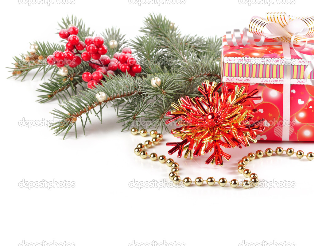 Christmas background with Christmas toys.  Foto Stock #17353533