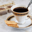 Stock Photo: Coffee with pastry.