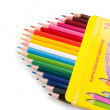 Stock Photo: Colored pencils.