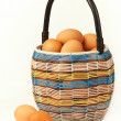 Basket with eggs. — Stock Photo