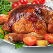 Baked chicken. - Stock Photo