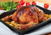 Baked chicken. — Stock Photo