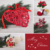Christmas collage. — Stock Photo