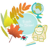School autumn background — Stock Vector