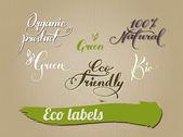 包装设计生态产品环境书法 — 图库矢量图片