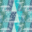 Royalty-Free Stock Imagen vectorial: Pattern with winter mood. Inspiration from snowfall
