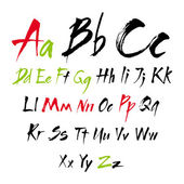 The alphabet in calligraphy brush. — Stock Vector