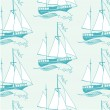 Marine seamless pattern. — Stock Vector