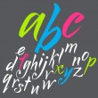 The alphabet in calligraphy brush. — Stock Vector #31652799