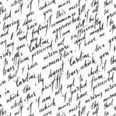Modèle sans couture avec le texte de l'écriture manuscrite — Vecteur