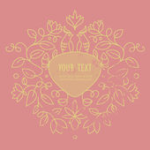 Vector abstract wedding frame with space for text — Stok Vektör