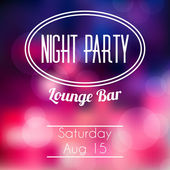 Night party blurred poster — Stock Vector