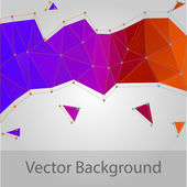 Abstract triangle background - vector — Stock Vector