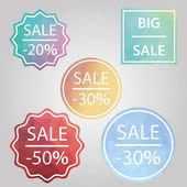 Abstract vector sale banner — Stock Vector